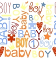 seamless kids pattern with label Baby Boy vector image