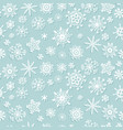 simple christmas seamless pattern with snowflakes vector image