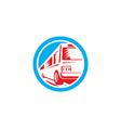 Tourist Coach Shuttle Bus Circle Retro vector image
