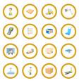 warehouse logistic storage icon circle vector image