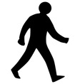 Walking Man Silhouette vector image