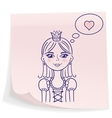 Little princess in love vector image vector image