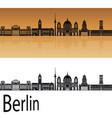 Berlin V2 skyline orange vector image vector image