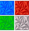 Crystal triangle background set vector image