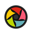 video lens icon flat style vector image