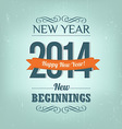 New Year 2014 Design vector image vector image