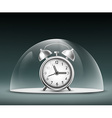 alarm clock under a glass dome vector image vector image