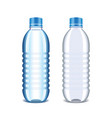 Plastic bottle for water isolated on white vector image vector image