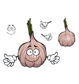 Bulb of sprouted cartoon garlic vegetable vector image vector image