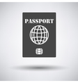 Passport with chip icon vector image