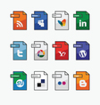 Social Media web icons vector image