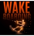 wakeboarding athlete poly vector image