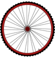 Bicycle wheels vector image