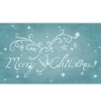 Christmas reindeer with text Merry Christmas vector image