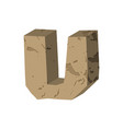 letter u stone font rock alphabet symbol stones vector image