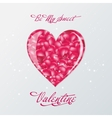 Valentine day typography design words in heart vector image