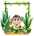 A monkey smiling vector image vector image