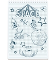sketch of space themed vector image vector image