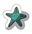 Color starfish icon stock vector image