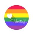 Valentines lgbt emblem vector image