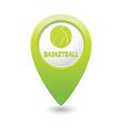 basketball GREEN map pointer vector image vector image