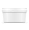 plastic container for ice cream or dessert 03 vector image