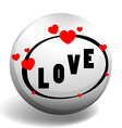 Love design on round badge vector image vector image