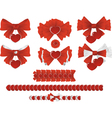 ribbons with hearts vector image vector image