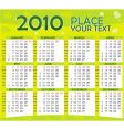 colorful calendar for year 2010 vector image vector image