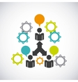 teamwork business design vector image