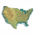 united states map vector image
