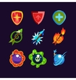 Game Resources Icons vector image