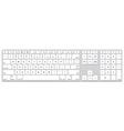long aluminum computer keyboard vector image