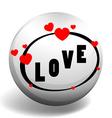 Love design on round badge vector image