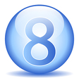 Number eight button vector image