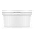 plastic container for ice cream or dessert 03 vector image