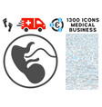 prenatal icon with 1300 medical business icons vector image