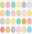 set of colorful eggs for easter vector image