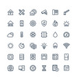 thin line icons set with home smart house vector image
