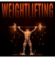 wheightlifting poly in motion vector image