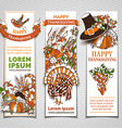 set of Thanksgiving banners vector image