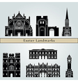 Exeter landmarks and monuments vector image