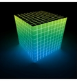 Abstract glowing cube vector image vector image