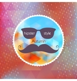 Autumn hipster style Mustache and Glasses EPS 10 vector image vector image