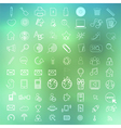 Social color Media Circles Icon on abstract vector image vector image