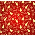 Christmas seamless pattern elements vector image