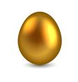 Golden egg isolated on white background vector image