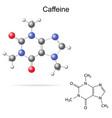 Caffeine molecule vector image