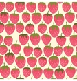 Strowberry seamless pattern vector image