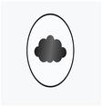 black cloud circle vector image